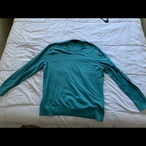 Turquoise, Banana Republic, Cotton Sweater (2XL)